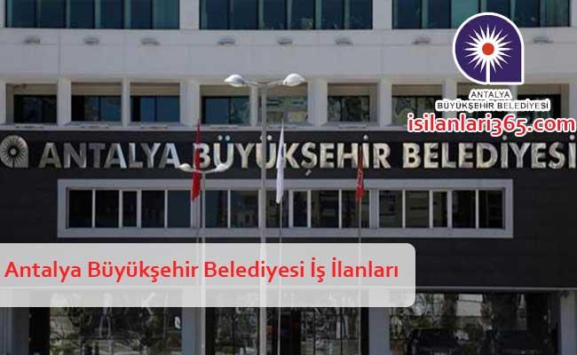 Antalya Büyükşehir Belediyesi Personel ve Memur Alımları