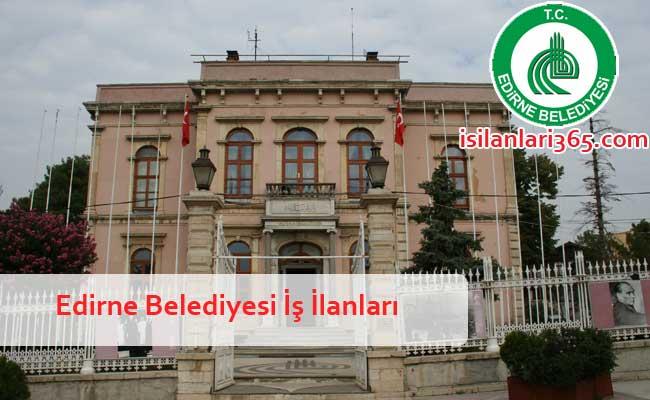 Edirne Belediyesi Personel ve Memur Alımı