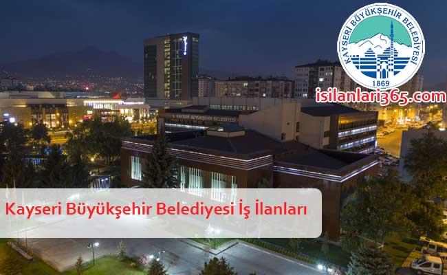 Kayseri Büyükşehir Belediyesi Personel ve Memur Alımı