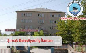 Şırnak Belediyesi Personel ve Memur Alımı