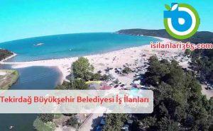 Tekirdağ Büyükşehir Belediyesi Personel ve Memur Alımı