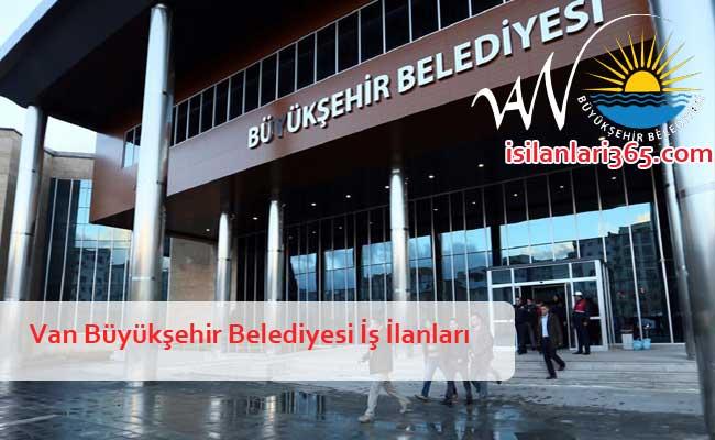 Van Büyükşehir Belediyesi Personel ve Memur Alımı