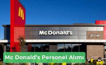 MC Donalds İş İlanları, Personel Alımı ve İş Başvurusu